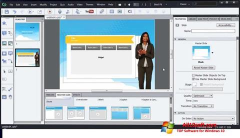 Képernyőkép Adobe Captivate Windows 10