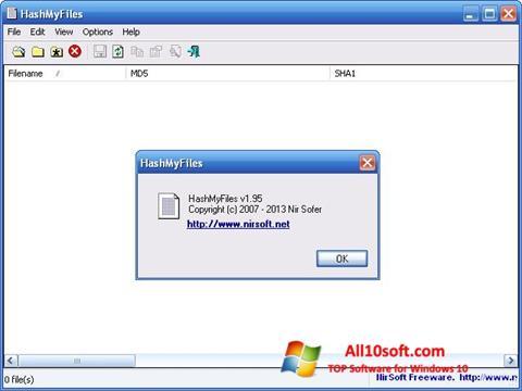 Képernyőkép HashMyFiles Windows 10