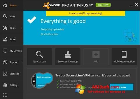 Képernyőkép Avast! Pro Antivirus Windows 10