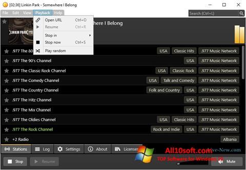 Képernyőkép Screamer Radio Windows 10