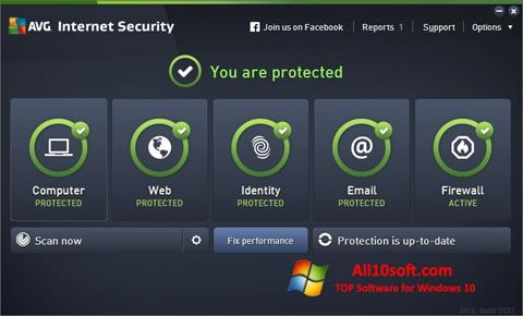 Képernyőkép AVG Internet Security Windows 10