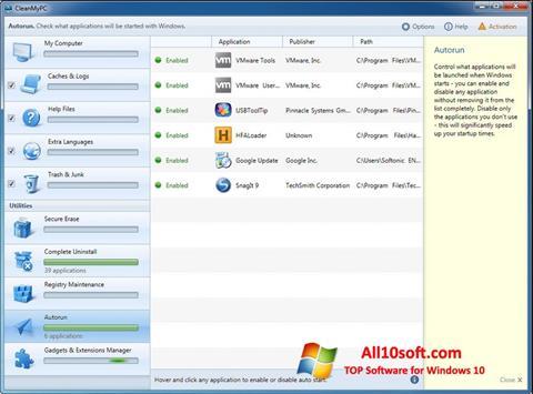 Képernyőkép CleanMyPC Windows 10