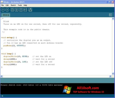 Képernyőkép Arduino Windows 10