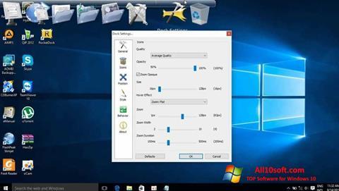 Képernyőkép RocketDock Windows 10