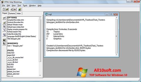 Képernyőkép HTML Help Workshop Windows 10