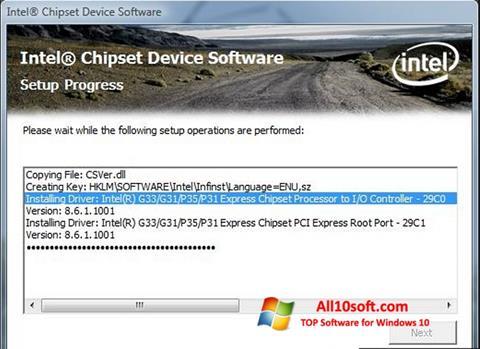 Képernyőkép Intel Chipset Device Software Windows 10