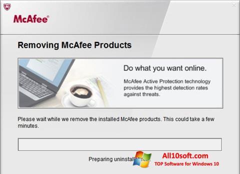 Képernyőkép McAfee Consumer Product Removal Tool Windows 10