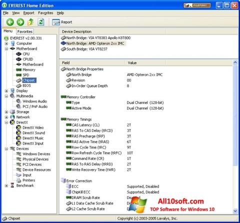 Képernyőkép EVEREST Home Edition Windows 10