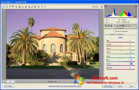 Képernyőkép Adobe Camera Raw Windows 10