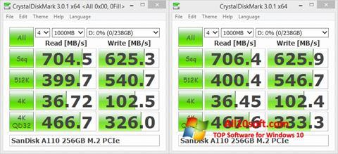 Képernyőkép CrystalDiskMark Windows 10