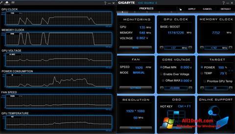 Képernyőkép GIGABYTE OC Guru Windows 10