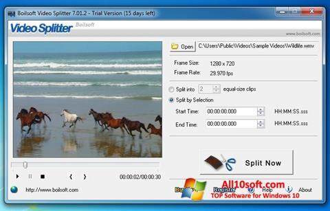 Képernyőkép Boilsoft Video Splitter Windows 10